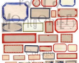 Blank Label Stuff Number 1 Digital Download Collage Sheet
