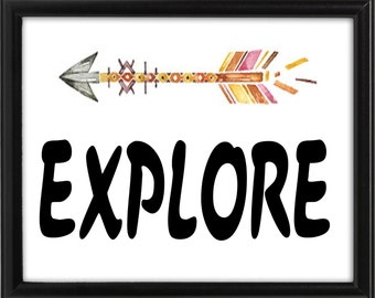 Explore digital art print