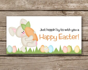 INSTANT DOWNLOAD - Easter Treat Bag Topper - Easter Bunny - Carrot - Easter Eggs - Holiday - DIY Printable