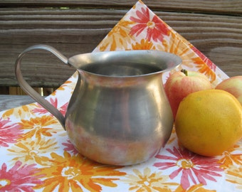 Vintage Empire Pewter Small 4 Inch Serving Pitcher Large Creamer Primitive Shabby