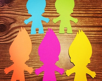 Troll People Cut Outs (Various Sizes and Colors Available)