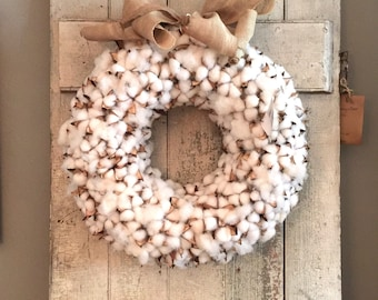 "24"" Faux Cotton Wreath"