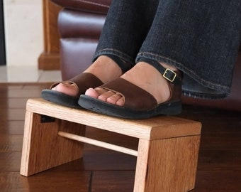 Collapsable Foot Rest Foot Stool Reclaimed Barn Wood Rustic Furniture
