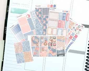 """Floral/Pink/Blue/Glitter """"Darling, it's Vintage""""  Themed Planner Stickers for Erin Condren, Kikki K, Filofax, Happy Planner, Websters Pages"""