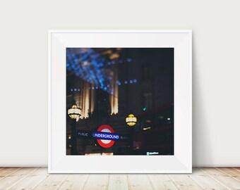 london photograph london underground photograph london print london decor london underground print red london bus photograph