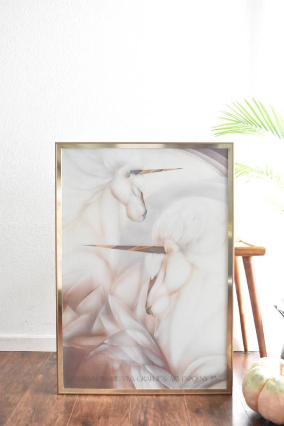 large poster size suzanne marie poster unicorn print / mythical creature