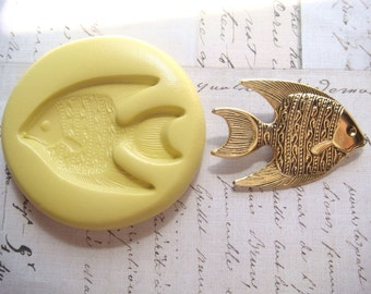 ANGEL FISH - Flexible Silicone Mold - Push Mold, Jewelry Mold, Polymer Clay Mold, Resin Mold, Craft Mold, Food Mold, PMC Mold