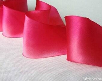 China Doll Pink Hand Dyed Silk Ribbon-2 yard increments