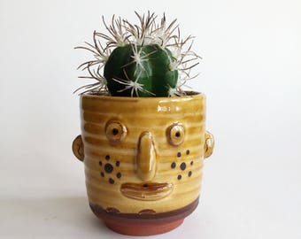 Slipware Pottery Cup/ Plant Holder