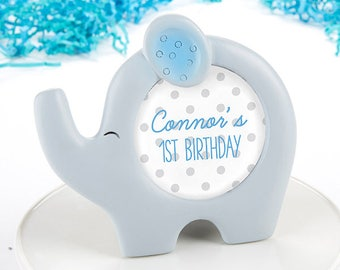 Elephant Picture Frame - Blue Little Peanut Photo Frame - Baby Shower Favor Decorations -  First Birthday Party Favor Gift MW35782
