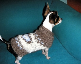 Organic Wool chihuahua coat by nerina52 Small dog sweater Chihuahua tops Chihuahua sweater Pets Fashion Puppy coat Heart chihuahua clothing