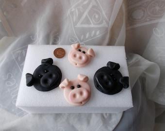 Pigs,Farm animals,Fimo,Card making,Craft,Box,Frames