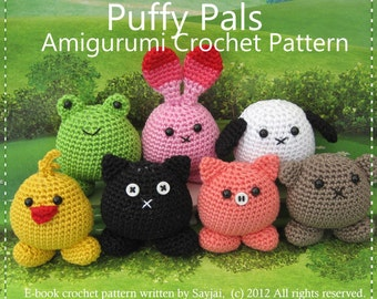 Puffy Pals - Instant Download PDF Crochet Pattern - in English + 4 other languages