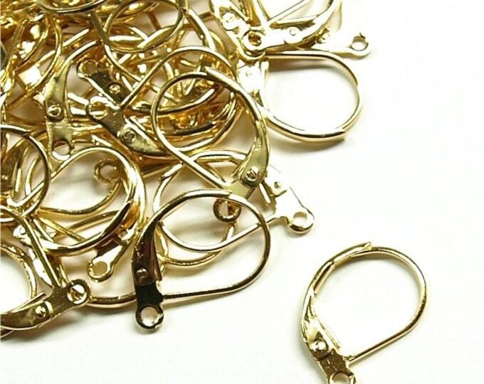 CLOSEOUT - Earwire, Leverback, Gold - 100 Pieces (EWBGP-LB)