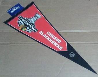 Chicago Blackhawks 2013 Stanley Cup Champions Pennant - Full Size