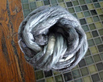 Pearl Grey Hand Dyed Mulberry Silk TopFree USA Shipping
