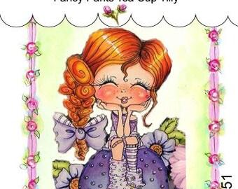My-Besties Clear Rubber Stamp Big Eye Besties Big Head Dolls Fancy Pants Tea Cup Tilly MYB-0251   By Sherri Baldy