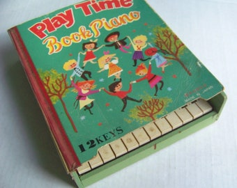 Play Time Book Piano Vintage Made in Japan Child's Toy