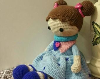 Ganchillo muñeca / mano muñeca / amigurumi muñeca / juguetes de peluche / muñeca Tilda