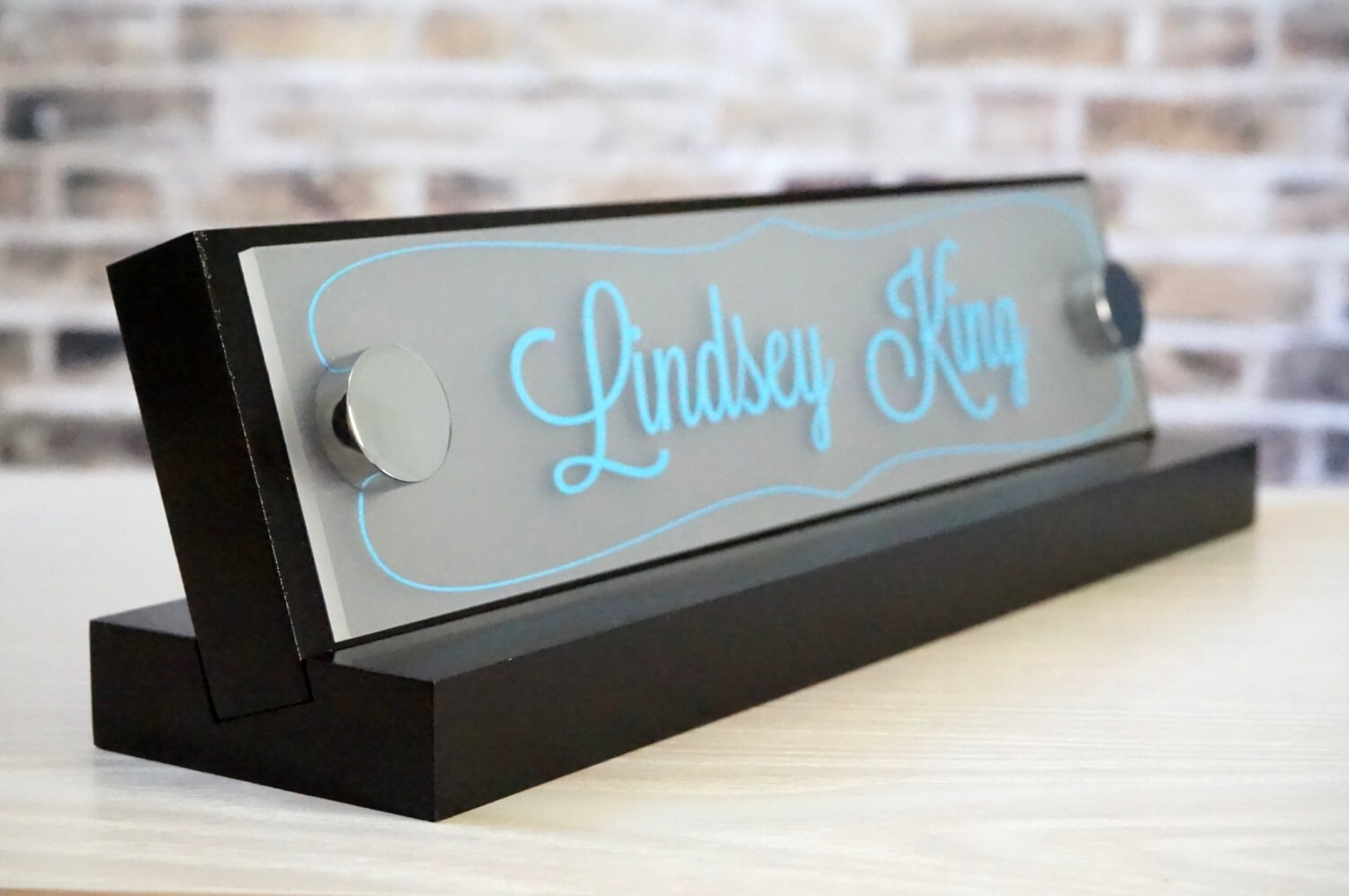 Made by Garo Signs Desk Name Plate 10 x 2.5