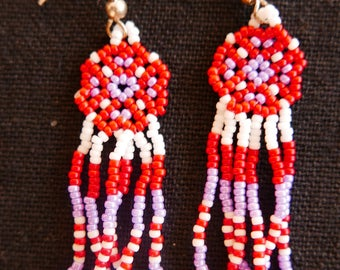 Mini earrings Japanese beads