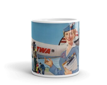 Vintage TWA ad Mug