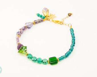 Beaded Bracelet, mermaid bracelet, Friendship bracelet, seed beads bracelet, cute beaded bracelet, glass bead bracelet, cute bracelet