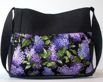 Black and Purple Purse