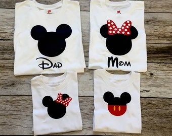 Mickey or Minnie Mouse Boys or Girls Birthday or Sibling Shirt, Top or  Bodysuit.