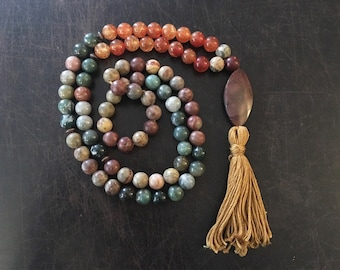 Custom Mala Necklace - Beaded tassel necklace