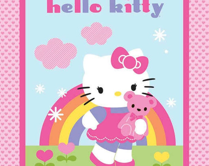 From Springs Creative Hello Kitty cotton fabric panel 36 x 44 inches.