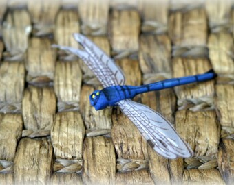 """Tresors  Blue Dragonfly Crafting Embellishment for Scrapbooking, Cards, Altered Art,  etc approx. 3"""" x 5"""" AN-004"""