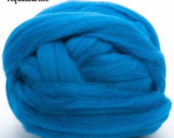 Merino Wool Top - 22.5 micron -Aquamarine - 4 ounces