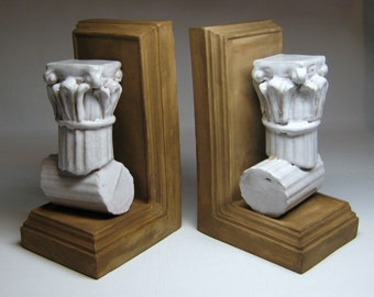 MEISELMAN made in italy column bookends mid-century modern hollywood regency