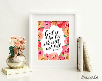 Digital download, printable art, typography print, instant download, girly artwork, nursery decor, Bible verse