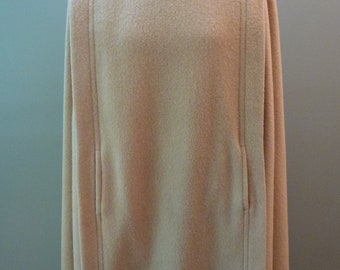 Vintage 100 Percent Camel Hair Cape with Pockets and Long Vent in the Back