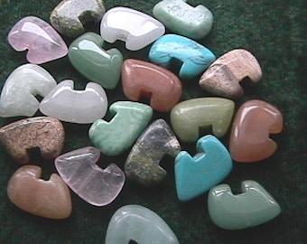 12mm x 18 Mixed Stone Zuni Bear Beads (20)
