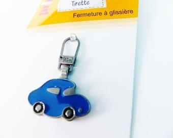 zipper for small zipper car blue decorative zipper kids metal