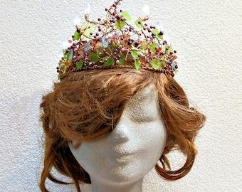 Fairy wedding crown, elven crown, handfasting crown, fairy wedding headdress, Fairy woodland crown, cosplay crown, faerie tiara, fairy  gift