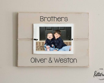 Brothers personalized picture frame, boy frame, boy mom, shared room decor