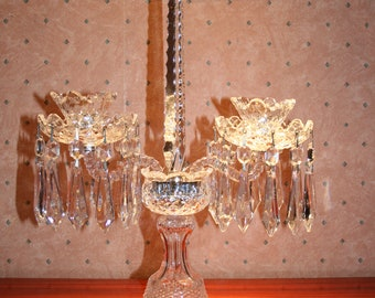 Exquisite Waterford Crystal Candelabra in Superb Condition