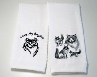 "Ragdoll Cat, Ragdoll Cat Kitchen Towel, Ragdoll Gift, Ragdoll Owner Gift, Hostess Gift, Cat Lover Gift, Dish Towel, Ragdoll Lover  ""Ragdoll"""
