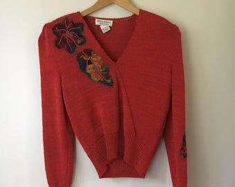 Vintage Botanical Sweater