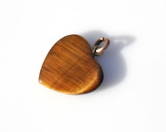 Victorian Revival Tiger's Eye Heart Charm