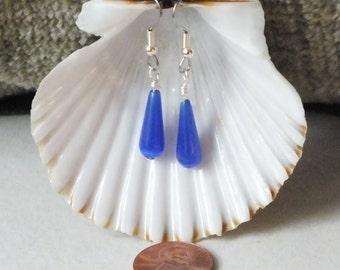 Cobalt Blue Teardrop Earrings