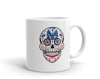 Sugar Skull Flag of the United States Army Mug