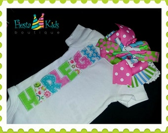 Baby girl bodysuit, baby shower gift for girl, personalized baby clothes