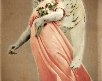Guardian Angel. Original Digital Art Photograph. Angel Wings. Wall Art. Wall Decor. Giclee Print. STAR ANGEL by Mikel Robinson