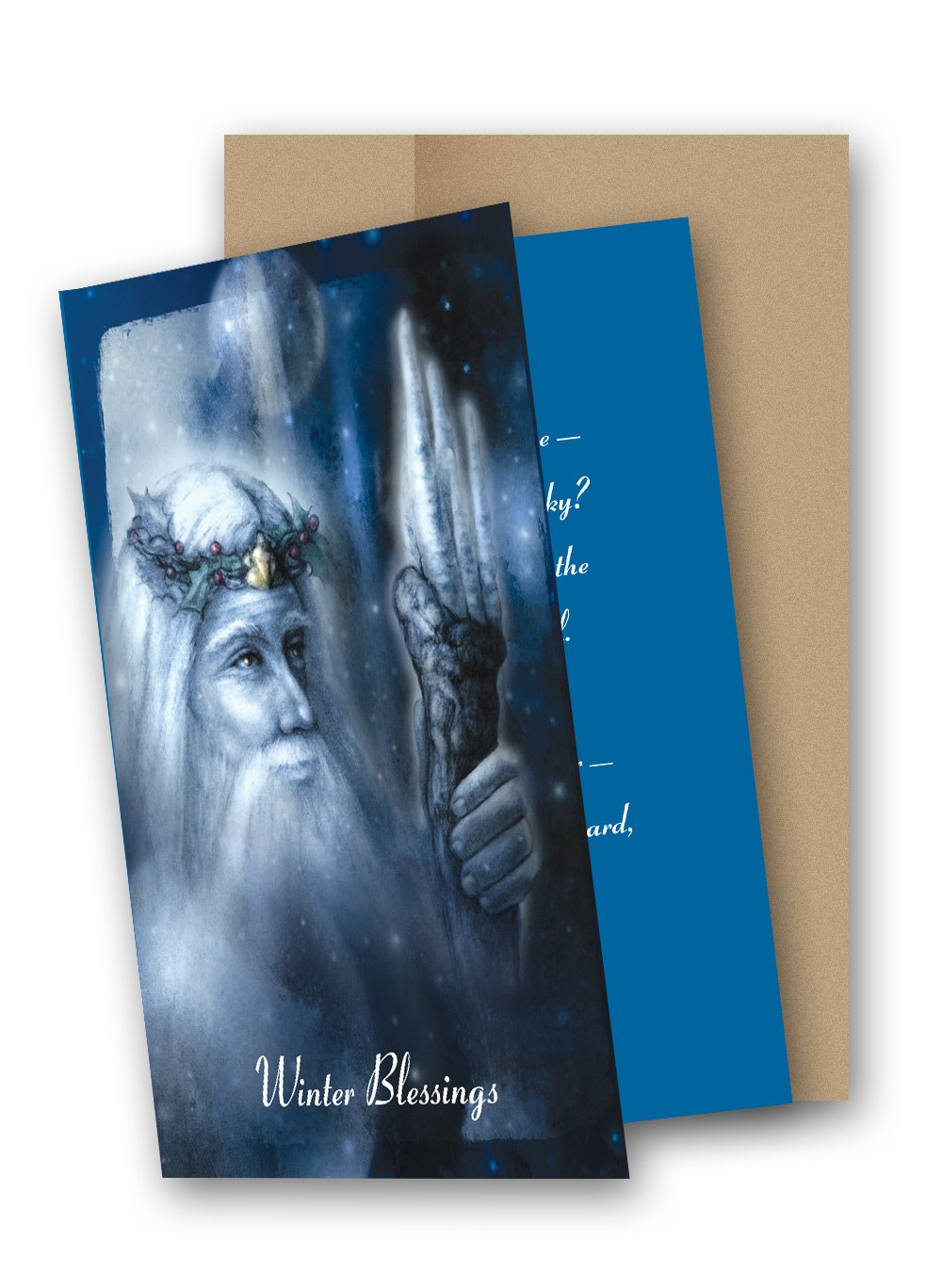 Light of yule 5 x 7 greeting card with envelope m4hsunfo