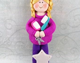 Hairdresser Gift - Gift for Beautician - Hairdresser Christmas Ornament - Beautician Christmas Ornament - Salon Christmas Ornament -4297